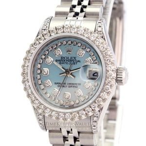 Rolex Lady Datejust Blue MOP Diamond Watch 26mm